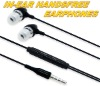 In-Ear Earphone Handsfree w/Mic For iPhone 2G 3G,for iTouch