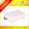LP-E8 battery pack7.4v 1000mah for digital cameras Canon 550D,600D ,Rebel T2i,Rebel T3i DSLR Camera