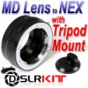 "Lens Adapter Ring with Tripod 1/4"" Mount For Minolta MD MC Lens And SONY NEX E Mount NEX-7 NEX-5 NEX-3"
