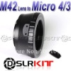 M42 Lens to Micro 4/3 M4/3 Mount Adapter GF1 GF2 GF3 G2 G3 GH2 E-P3 P2 PL3 PM1