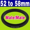 Male 52mm-58mm Macro Reverse Ring