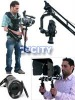(Mega Production Package) camera Dolly 12ft straight track, 14ft jib crane motorized sr.pan tilt head, shoulder rig, follow focu