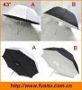 """NEW 43"""" Black White Flash Soft Box Reflective Umbrella"""