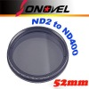 Nicna Fader ND Filter Adjustable from ND2 to ND400 ND2-ND400 MC Filter Lens 77mm