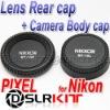 PIXEL Rear Lens cap + Camera body Cover cap for NIKON AF AI DSLR