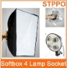 Photo Video Studio E27 4x head Socket Lighting Lamp Bulb Softbox