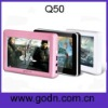 Q50   mp4 pmp touch screen  at factory price support HD720 video,TV-OUT
