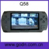 Q58   best price mp4 with FM,camera ,free battery,support thousands of 32-bit games