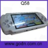 Q58   camera mp4 player with FM,camera ,free battery,support thousands of 32-bit games