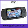 Q58   mp3/mp4 player with FM,camera ,free battery,support thousands of 32-bit games