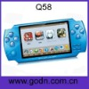 Q58   nes games for china mp5 game player with FM,camera ,free battery,support thousands of 32-bit games
