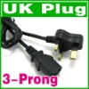 UK 3-Prong AC Power Cord 3Pin Laptop Adapter Cable New
