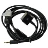 USB 3.5mm AUX Car Audio Data Charger Cable For iPod iPhone