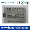 Video Camcorder Battery BP-110