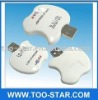 White fashoion new  design  4 IN 1 (SD/MMC/RS-MMC) Card Reader Apple shape