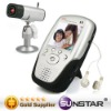 Wireless two way talk baby monitor with temperature gauge