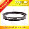 camera lens filter close-up +2 filter 49mm