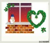 christmas background/scenic canvas background10x20ft