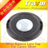 digital camera white balance rubber lens cap for canon 58mm