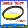 for Panasonic Nikon JVJ 52mm Graduated yellow color filter