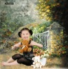 hand painted children muslin background series K6118
