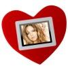 heart shape digital photo frame CE RoHS FCC