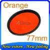 lens filter 77mm Gradual color filter Full Orange color