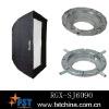 oblong soft box with aluminum adaptor, photographic equipment