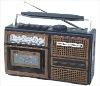 portable radio cassette recorder
