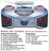 portable radio cassette recorder with EQ