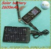 solar battery panel  2600mAh solar charger with Al alloy frame
