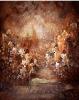wedding hand painted backdrop photo studio/muslin background